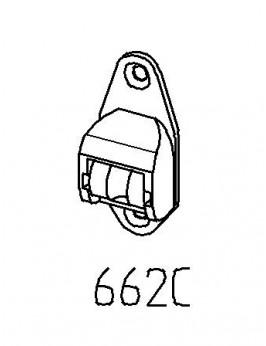 Schnurleitrolle Schraubleitrolle Mini Königsausführung mit nadelgelagerter Stahlrolle